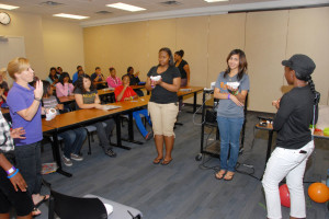DSC_8507-Mrs. Missy Wall (Teen Contact) presenting Cyber-Bullycide workshop to KIR participants.